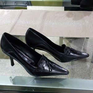 NINE WEST black heels size 10, new